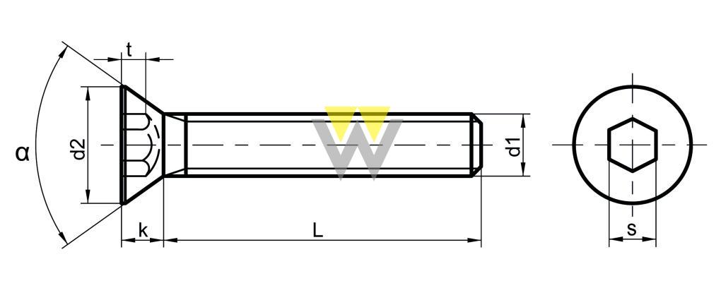 WERCHEM_DIN7991_drawing