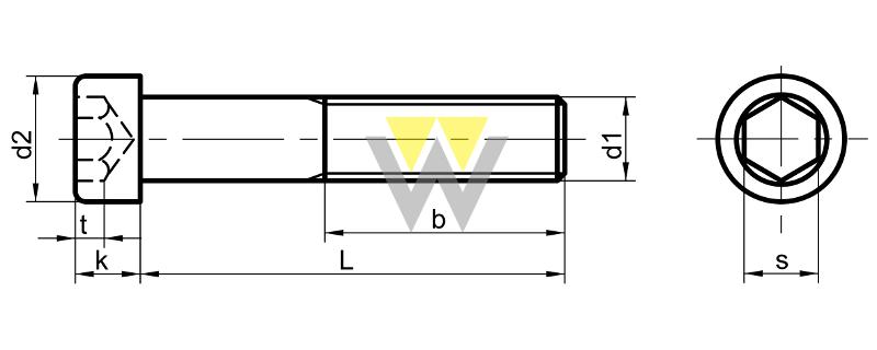 WERCHEM_DIN_912_UNC_drawing